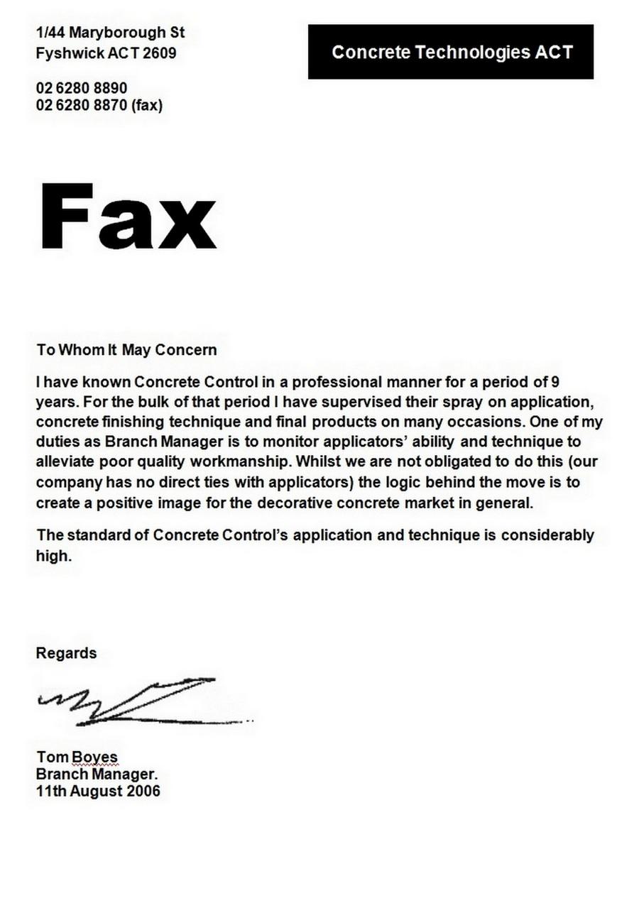 Testimonial Fax
